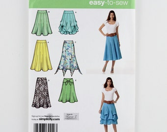 Simplicity Pattern 2449 Misses' Pull On Skirt, Sizes 14, 16, 18, 20, 22 Uncut Easy To Sew Sewing Pattern