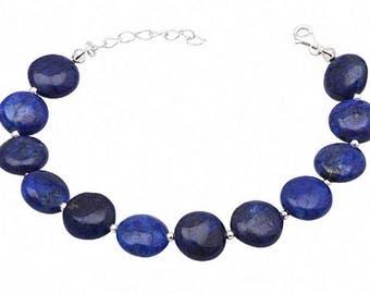 Meditation energy prosperity peace Chakra Yoga wrist healing migraines lapis lazuli and sterling silver natural gems semi precious stones