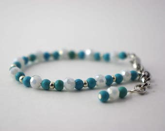 Turquoise and White Baby Bracelet