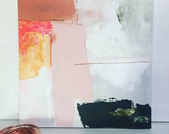 Modern abstract painting acrylic