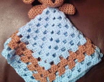 Crochet Cuddle Baby Toy/Blanket Puppy