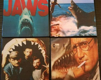 Jaws movie coasters