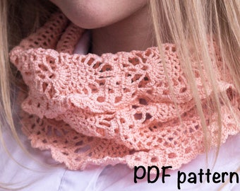 crochet pattern scarf pattern, crochet scarf pattern, beautiful scarf, easy to follow, cowl pattern, infinite scarf pattern, PDF, DIY gift