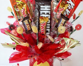 Unique Candy Gift Basket Bouquet For Him Her Adult Child