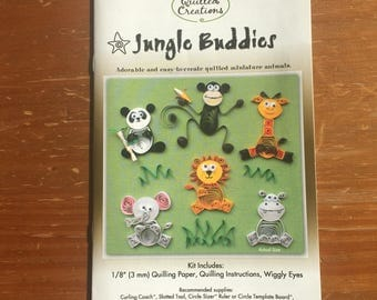 Jungle Buddies Quilling Kit / Quilling Paper / Scrapbooking / Card Making / Arts and Crafts / Quilling / DIY