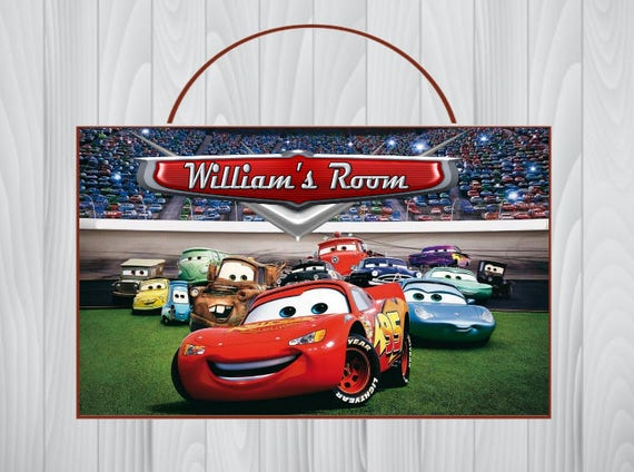 Personalized Disney CARS Sign Cars Personalized Wooden Name -  signs of cars with names