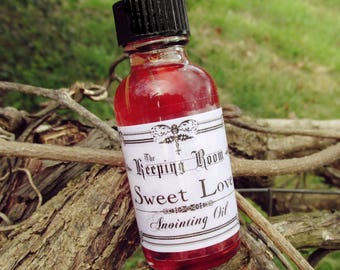 Sweet Love Anointing Ceremonial Oil, Ritual, Pagan, Wiccan, Metaphysical, Personal Power