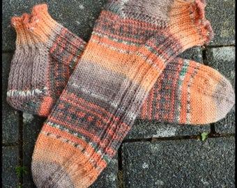 Summer Sneaker Socks size 39/40 hand knitted