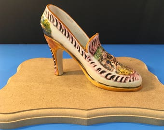 Capo di Monte Ceramic Slipper Hand Made/Painted Signed and Numbered