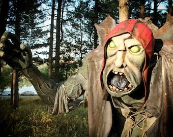 Paper mache Zombie Monster