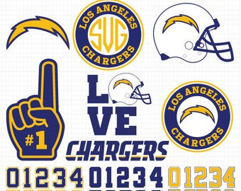 Los Angeles Chargers- Cuttable Design Files(Svg, Eps,Dxf, Jpg) For Silhouette Studio, Cricut Design Space, Cutting Machines,Instant Download