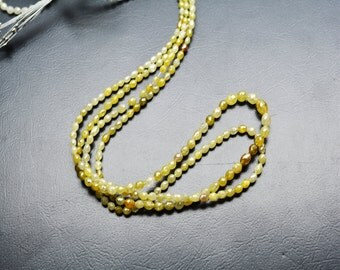 AAA Quality YELLOW diamond natural barrel shape(unique shape) faceted\16 inch strand