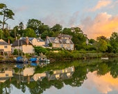 St Clement Sunrise, nr Truro, Cornwall  Landscape Print in a mailing tube