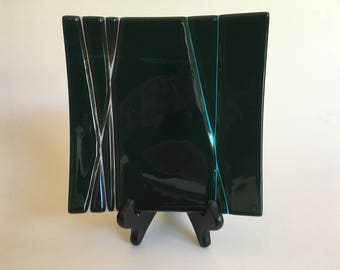 Lathe Cut Fused Glass Plate
