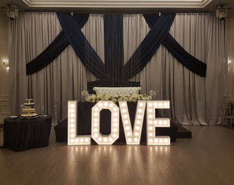 Marquee Letters ,Love letters for wedding, light up letters, marquee lights