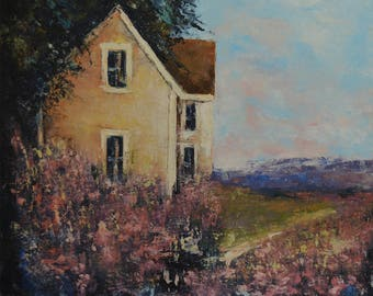 Landscape Painting Spring House
