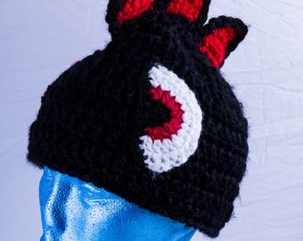 Black and red monster hat
