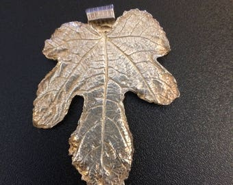 Silver Fig Leaf Pendant