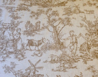 Country French Toile De Jouy Kitchen Curtains, Valances, Country Curtains,  Country Valances,