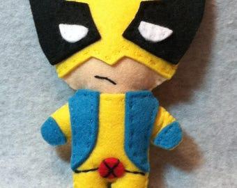 Wolverine Felt Plushie