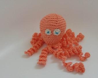 Coral Amigurumi Octopus