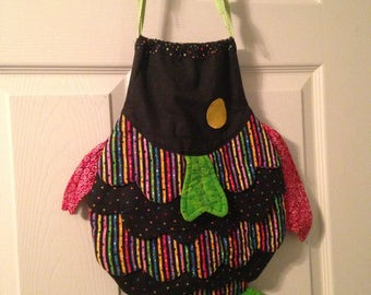 Handmade Fish Drawstring Bag