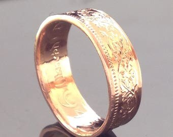 India One Pice Coin Ring (1943-1947)