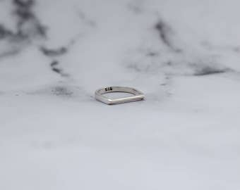 Sterling Silver Flat Top Ring