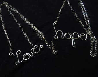 Love Hope Necklaces