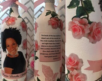 Mother's Day or Any Occasion Glam Wine Bottle