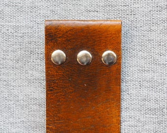 Leather Bookmark - Antique Medium Brown