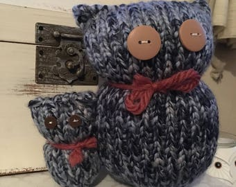 Parent/Child Knitted Owl