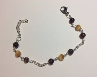 """Bracelet for women """"Brown and Brown cat eye chained"""""""