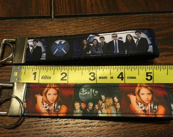 SALE - Marvel Agents of Shield OR Buffy the Vampire Slayer TV Show Fob/Chain Wristlet
