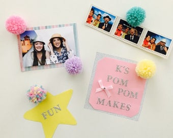 Cute  and colourful mini Pom Pom magnets