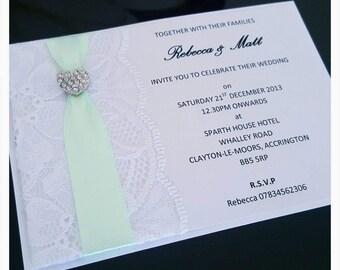 Pretty Lace Wedding Invitation