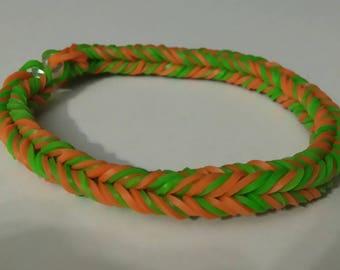 Pumpkin Bulk Fishtail Rainbow Loom Bracelet