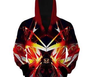 2017 galaxy stars shape Hoodie High quality gift creative Hooded Sweatshirt 2017 New Jacket Winter Superhero gift zipper