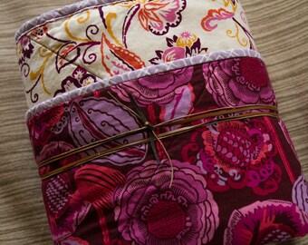 "Baby Quilt, Handmade, ""Purple Flower Baby"""