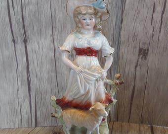 SALE - Beautiful Vintage Continental German Pottery Lady Figurine numbered 3883