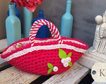 Style trapillo basket bag
