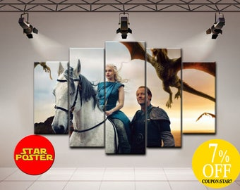 Game of Thrones canvas, Daenerys canvas, GoT print, Game of Thrones art, Game of Thrones print, Daenerys print, GoT canvas, GoT canvas art