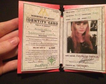 Ministry of Magic ID card