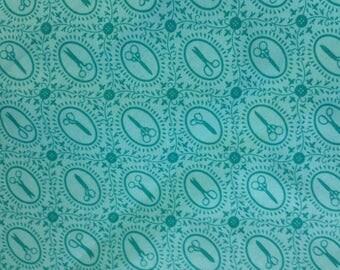 Fabric:  Teal Portrait Scissors
