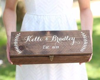 Personalized Wine Box Custom Keepsake Time Capsule Wedding Gift (Item Number MHD100008)