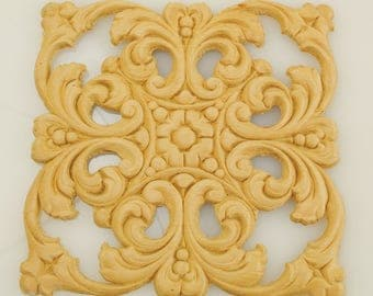 Square Wood Applique 6 Inches
