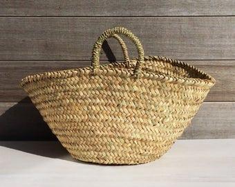 Palm leaf basket / basket / Moroccan basket / woven basket / rustic / interior decoration / boho