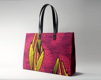African Wax Print Shopper Handbag