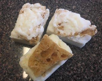 Soap bar 4.5 - 5oz with Sea Sponge Soap: choose your scent