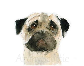 Pug Dog Fine Art Print #13